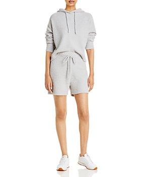 AQUA - Fuzzy Hoodie & Shorts