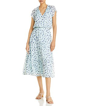Bella Dahl - Printed Flutter Sleeve Dress