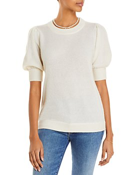 C by Bloomingdale's - Puff Sleeve Cashmere Sweater - 100% Exclusive