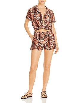Peixoto - Triangle Bikini Top, Tie Side Bottoms, Nora Shirt & Adira Shorts