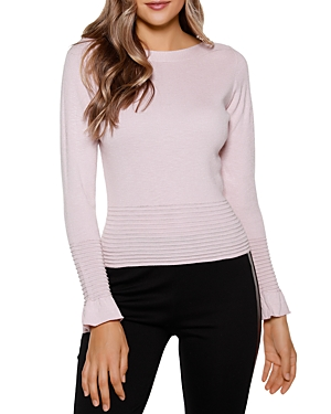 Flounce Sleeve Sweater