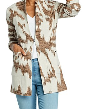NIC and ZOE - Abstract Print Notched Lapel Jacket