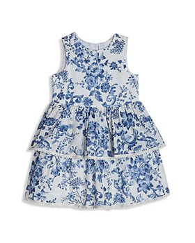 Pippa & Julie - Girls' Tiered Floral Dress - Little Kid