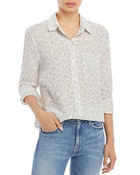 Rails - Ellis Giraffe Print Cotton Shirt