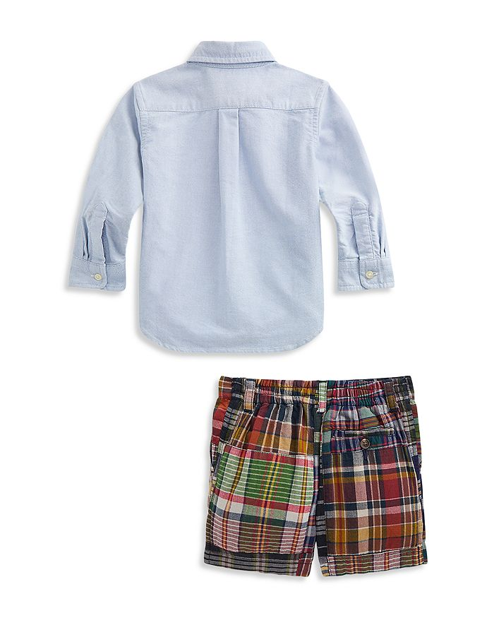 RALPH LAUREN Sets BOYS' SHIRT AND PLAID SHORTS SET - BABY