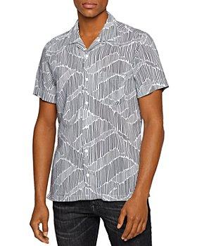BOSS - Rhythm Graphic Print Regular Fit Camp Shirt