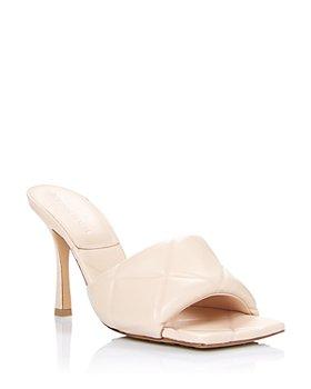 Bottega Veneta - Women's Quilted High Heel Slide Sandals
