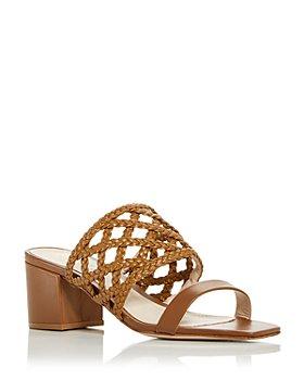 SCHUTZ - Women's Angie Woven Block Heel Slide Sandals