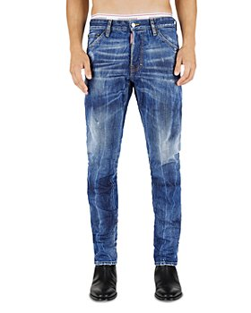 DSQUARED2 - Paint Job Cool Guy Slim Fit Jeans in Blue