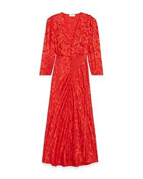 Sandro - Azel Jacquard Midi Dress