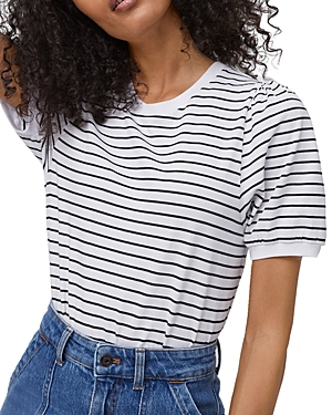 French Connection STRIPED PUFF SLEEVE TEE