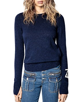 Zadig & Voltaire - Marled Cashmere Logo Sweater