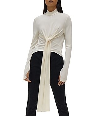 Helmut Lang Wrap Style Tie Front Top