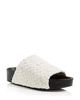 SIMON MILLER - Women's Woven Platform Slide Sandals