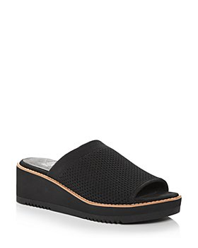 Eileen Fisher - Women's Telly Stretch Knit Wedge Slide Sandals