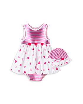 Little Me - Girls' Heart Popover Dress & Hat Set - Baby