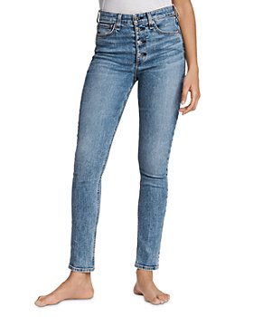rag & bone - Nina High-Rise Skinny Jeans in Farrow