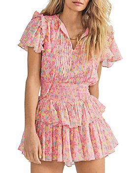 LoveShackFancy - Audette Cotton Ruffled Mini Dress