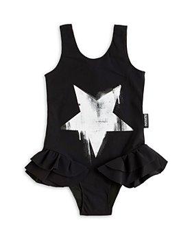 NUNUNU - Girls' Skirted Star Swimsuit - Baby