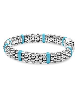 Lagos Blue Caviar & Diamond Sterling Silver Bracelet, 6