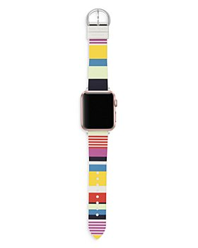 kate spade new york - Striped Silicone Apple Watch® Strap
