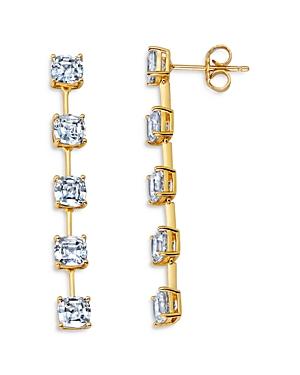 Five Stone Linear Drop Earrings