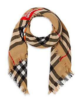 Burberry - Logo Graphic Check Cashmere Large Square Scarf