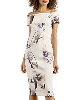 Ted Baker - Vanilla Off The Shoulder Sheath Dress