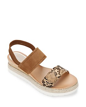Kenneth Cole - Women's Jules Leather & Suede Wedge Platform Espadrille Sandals