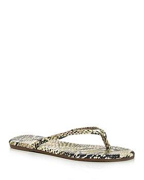 TKEES - Women's Studio Snake Embossed Exotic Flip Flops