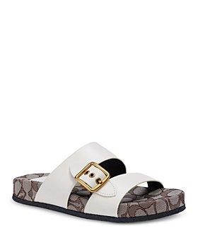 COACH - Women's Buckled Slip On Sandals