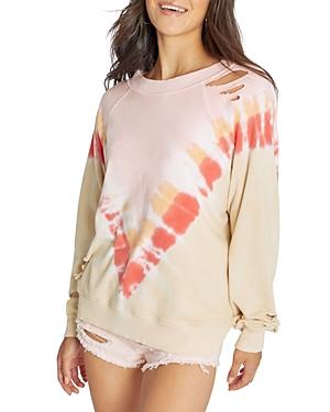 Wildfox Grapefruit Sommers Tie Dye Sweatshirt