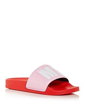 MSGM - Women's Logo Pool Slide Sandals