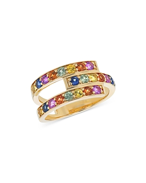 Bloomingdale's Rainbow Sapphire Ring in 14K Yellow Gold - 100% Exclusive