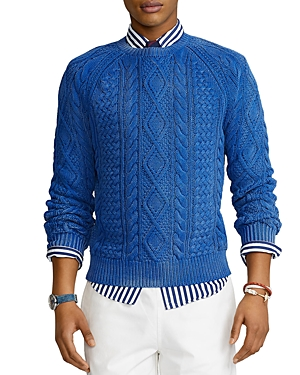 Polo Ralph Lauren COTTON ICONIC FISHERMAN KNIT SWEATER