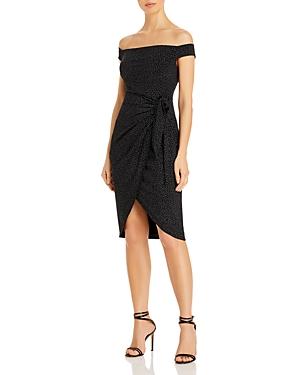 Off-the-Shoulder Sparkle Dress