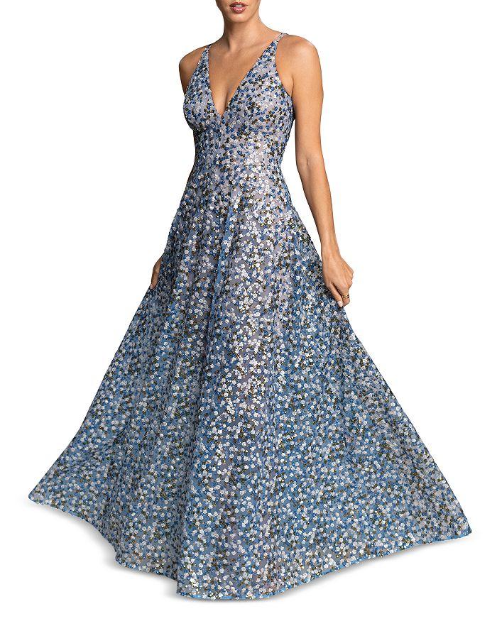 Dress The Population DRESS THE POPULATION ARIYAH FLORAL SEQUIN MAXI DRESS