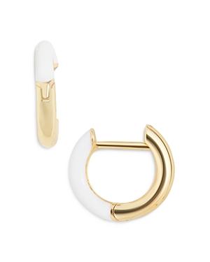 Baublebar Earrings SAGE COLOR BLOCKED HUGGIE HOOP EARRINGS IN 18K GOLD PLATED STERLING SILVER