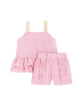Sovereign Code - Girls' Marianne + Estelle Seersucker Ruffle Top & Shorts Set - Baby