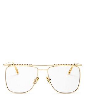 Karen Walker - Unisex Brow Bar Square Blue Light Glasses, 58mm