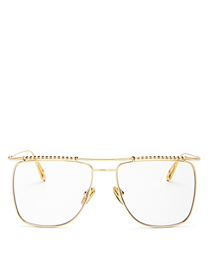 Karen Walker Unisex Brow Bar Square Blue Light Glasses, 58mm