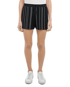 Theory - Hankson Striped Ribbed Knit Shorts