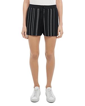 Theory Hankson Striped Ribbed Knit Shorts
