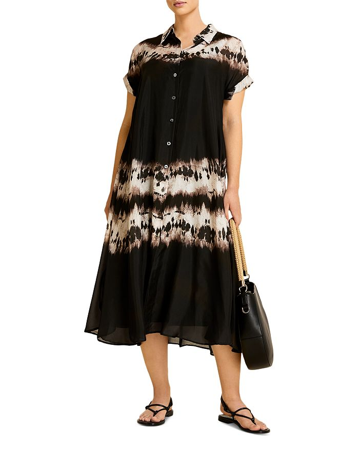Marina Rinaldi DISCORSO SILK HABOTAI SHIRT DRESS