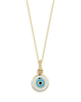 "Bloomingdale's - 14K Yellow Gold Enamel Evil Eye Pendant Necklace, 18"" - 100% Exclusive"