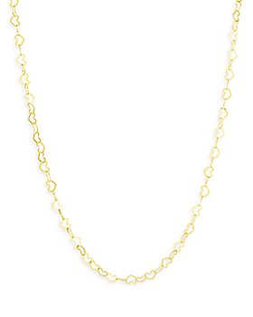 """Bloomingdale's - 14K Yellow Gold Heart Link Chain Necklace, 18"""" - 100% Exclusive"""