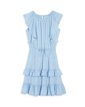 US Angels - Girls' Cascading Ruffle Dress - Big Kid
