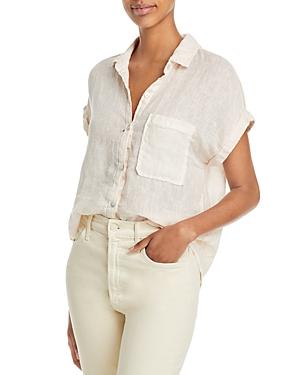 Pleated Back Linen Shirt