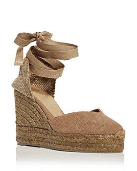 Castañer - Women's Chiara Ankle Tie Wedge Espadrille Sandals