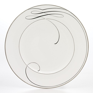 Waterford Crystal Ballet Ribbon Accent Plate White